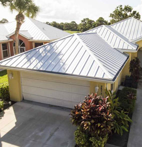 Metal Roof Installed on a Home